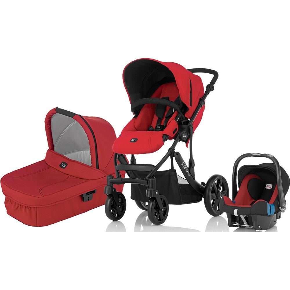 britax b smart 4 3 in 1 travel system pushchair pram stroller. Black Bedroom Furniture Sets. Home Design Ideas