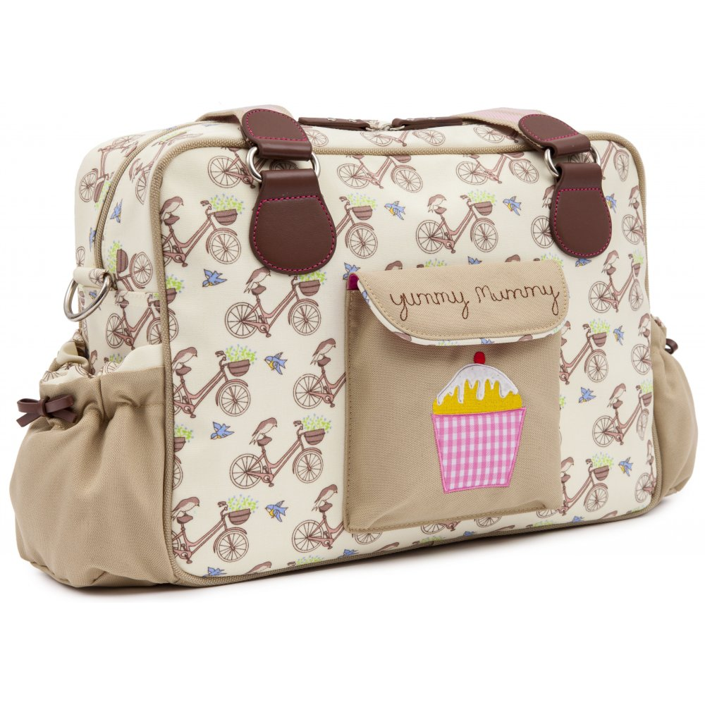 pink lining yummy mummy in the mews pink bikes changing bag. Black Bedroom Furniture Sets. Home Design Ideas