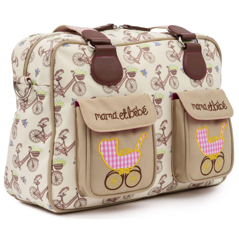 pink lining mama et bebe in the mews pink bike changing bag. Black Bedroom Furniture Sets. Home Design Ideas