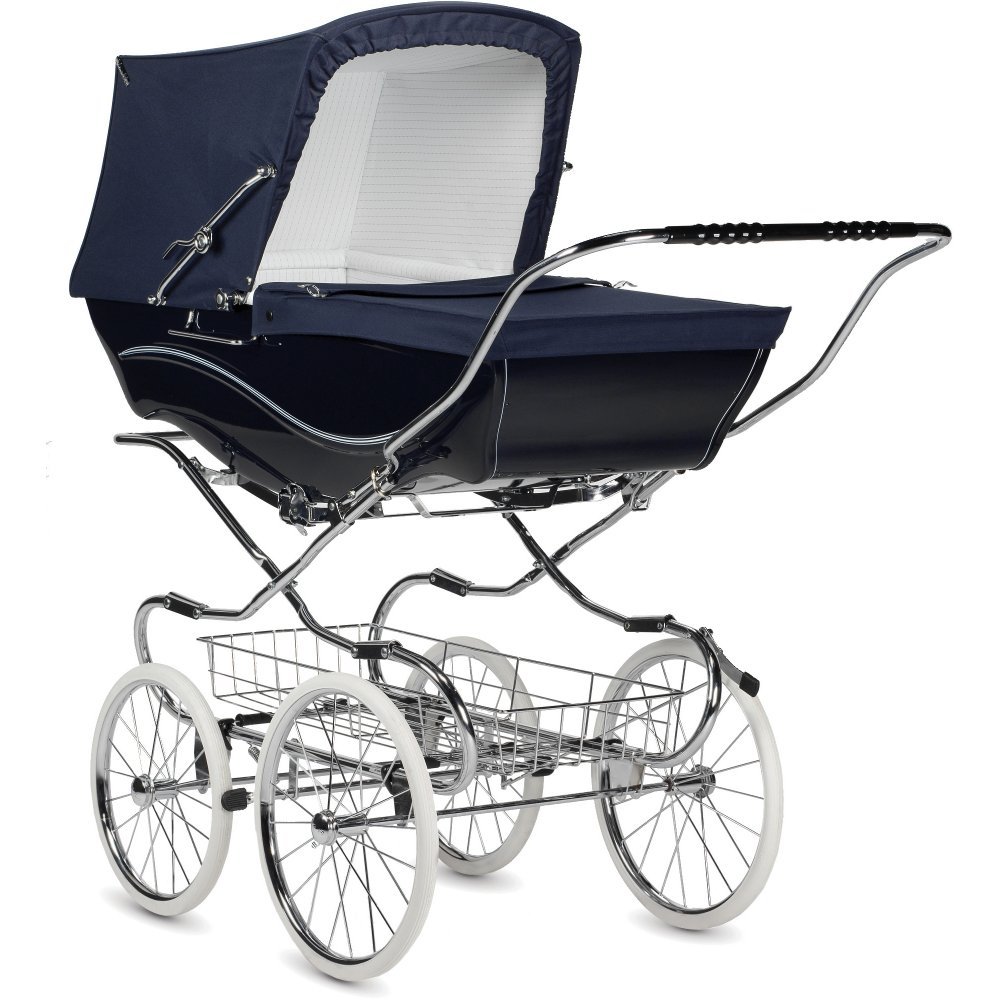 silver cross heritage kensington pram navy from w h watts. Black Bedroom Furniture Sets. Home Design Ideas