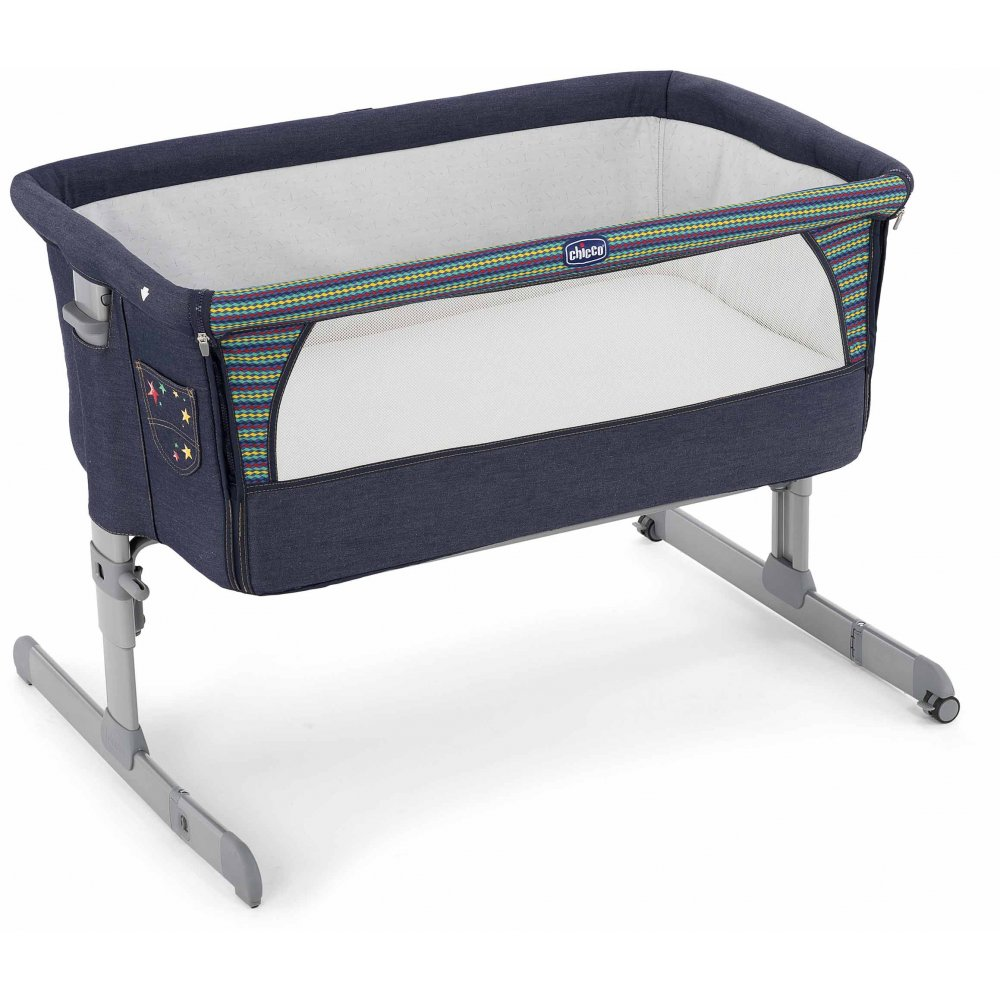 chicco next2me side sleeping crib denim special edition. Black Bedroom Furniture Sets. Home Design Ideas