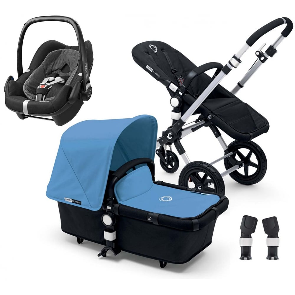 bugaboo cameleon 3 with cabriofix footmuff and adapters. Black Bedroom Furniture Sets. Home Design Ideas