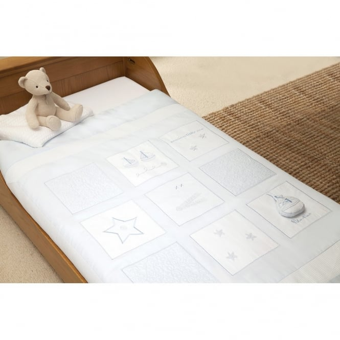 Silver Cross Vintage Blue Cot Bed Quilt