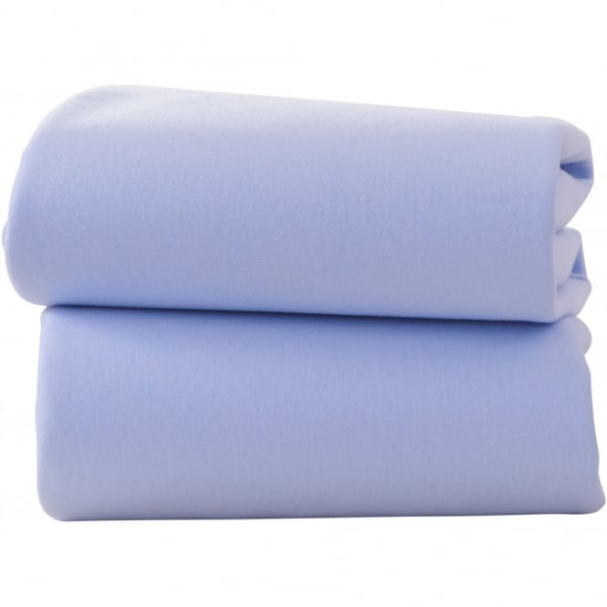 Clair de lune Fitted Cotton Jersey Sheets - 2 Pack