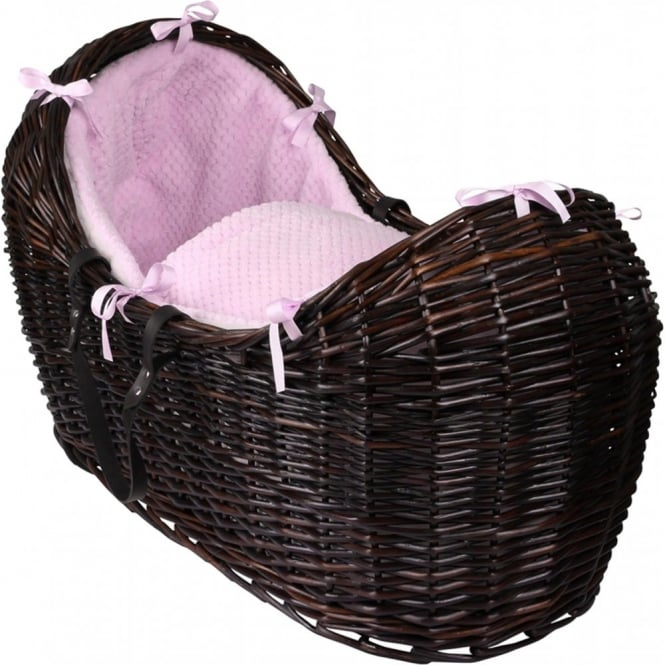 Clair de lune Honeycomb Noah Pod Dark Wicker Basket