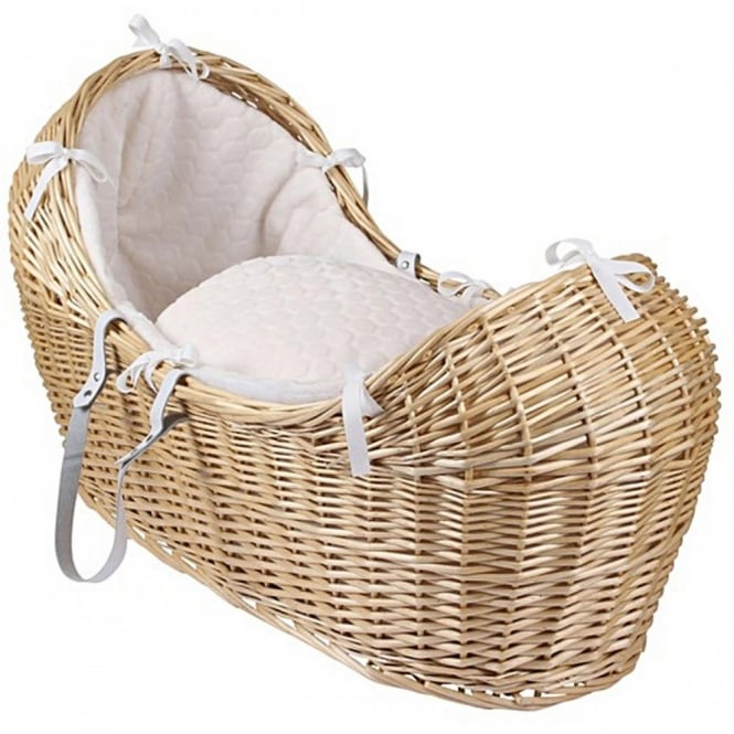 Clair de lune Marshmallow Noah Pod Natural Wicker Basket
