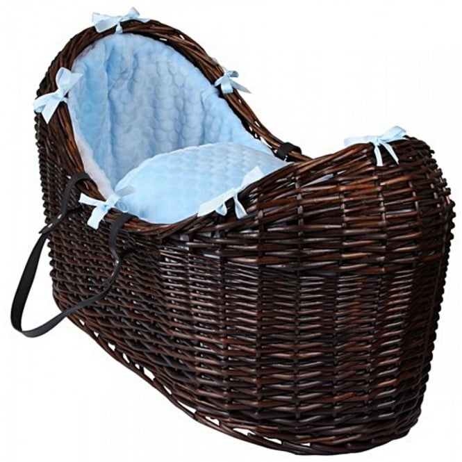 Clair de lune Marshmallow Noah Pod Dark Wicker Basket