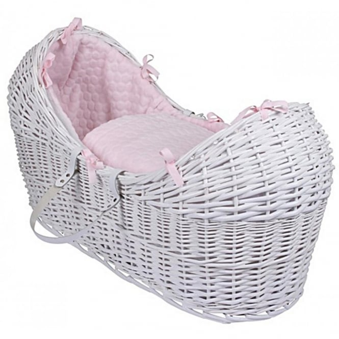 Clair de lune Marshmallow Noah Pod White Wicker Basket