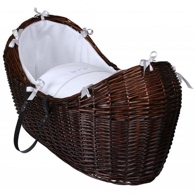 Clair de lune Silver Lining Noah Pod Dark Wicker Basket