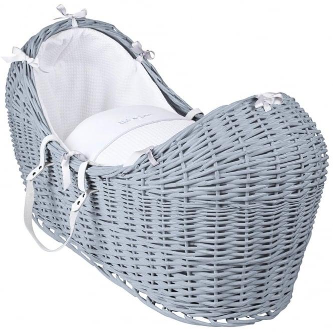 Clair de lune Silver Lining Noah Pod Grey Wicker Basket
