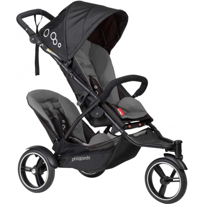 Phil & Teds Phil & Ted's Dot Pushchair With Double Kit Flint