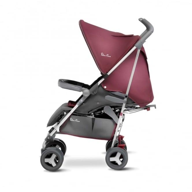 Silver Cross Reflex Stroller Vintage Red Including Luxury Footmuff