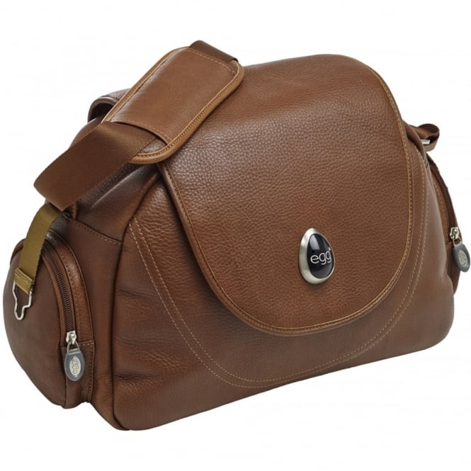 Egg Leather Tan Changing Bag