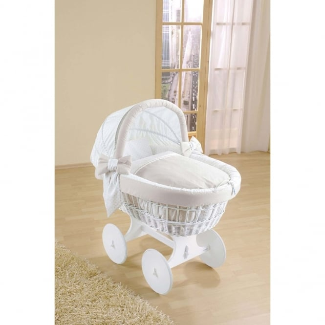Leipold Leone Bollerwagen Wicker Crib With Hood