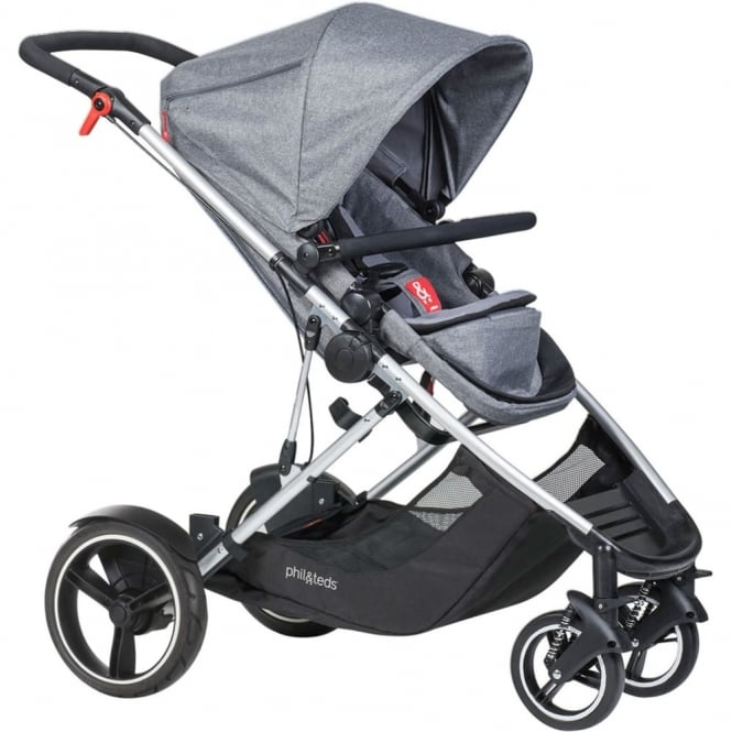 Phil & Teds Phil & Ted's Voyager Pushchair Grey Marl