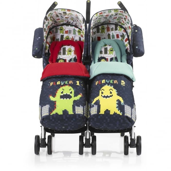 Cosatto Supa Dupa Twin Pushchair Monster Arcade