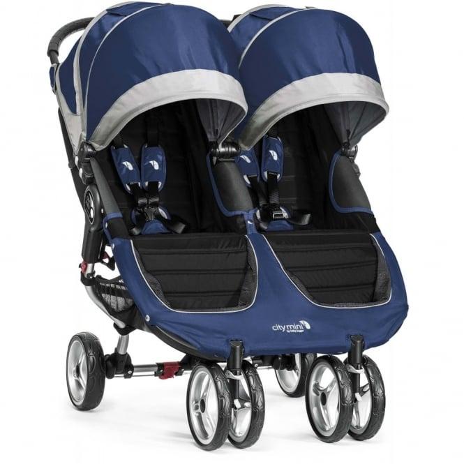 Baby Jogger City Mini Double Stroller Cobalt Grey
