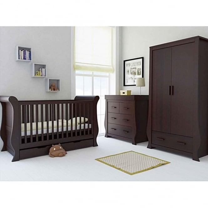 BabyStyle Hollie 3 Piece Nursery Set Rich Walnut