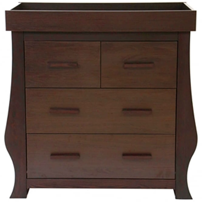 BabyStyle Hollie Dresser With Changer Unit Rich Walnut