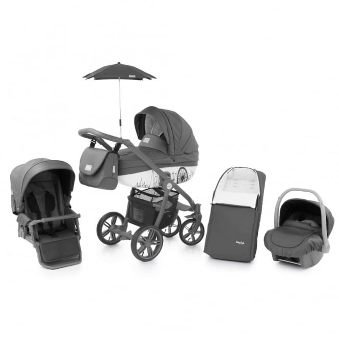 BabyStyle Prestige 2 Pram Horizon - Active Grey Chassis