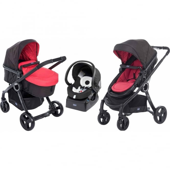 Chicco Urban Plus Travel System Red Passion