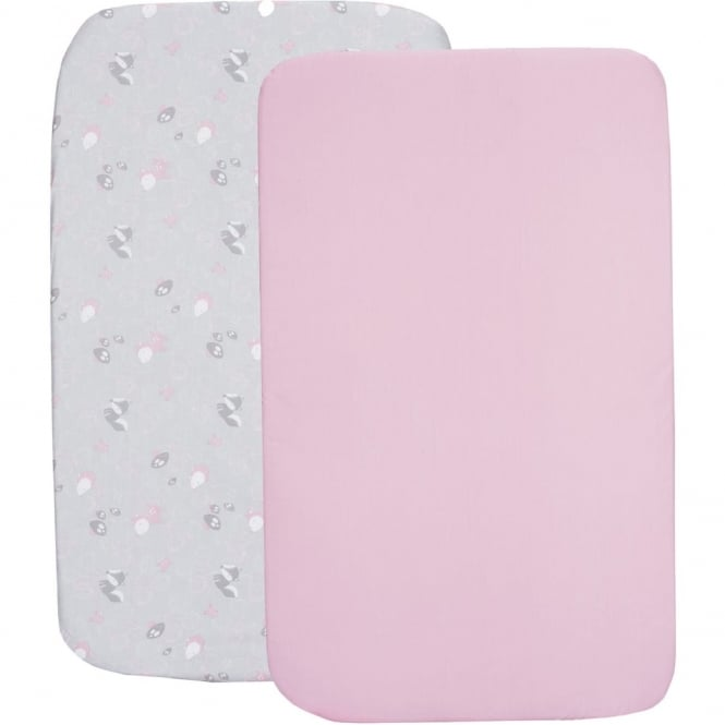Chicco Crib Set 2 Fitted Sheets - Princess