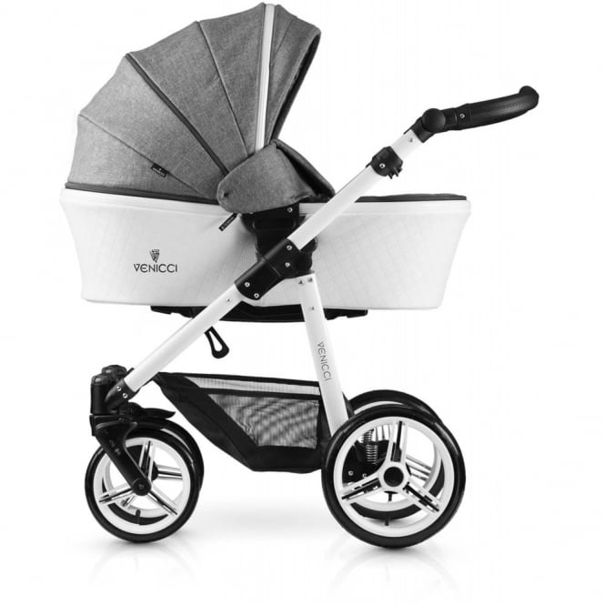 Venicci Pure Leatherette 3in1 Travel System - Denim Grey