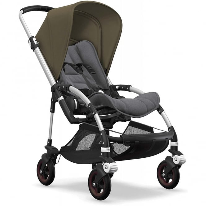 Bugaboo Bee5 Stroller - Silver Chassis - Olive Green Canopy