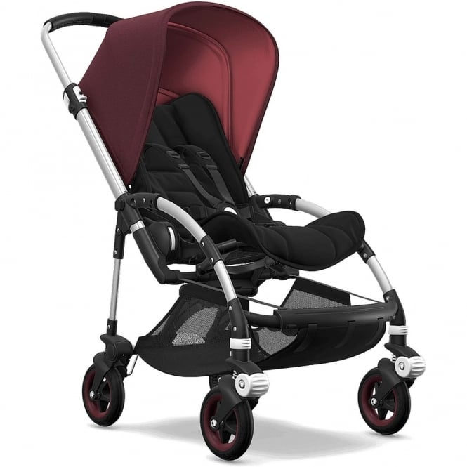 Bugaboo Bee5 Stroller - Silver Chassis - Red Melange Canopy