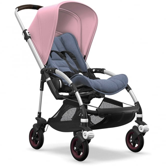 Bugaboo Bee5 Stroller - Silver Chassis - Soft Pink Canopy