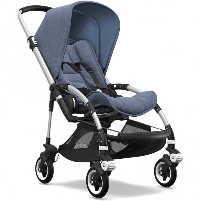 Bugaboo Bee5 Stroller - Silver Chassis - Blue Melange Canopy