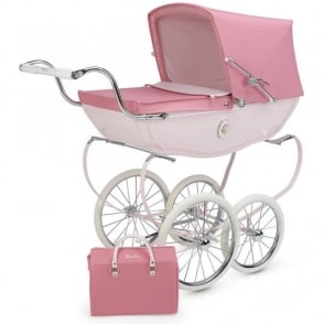 Silver Cross Heritage Chatsworth Toy Pram Rose