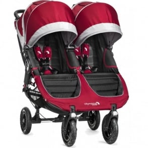 Baby Jogger City Mini GT Double Stroller with Raincover Red
