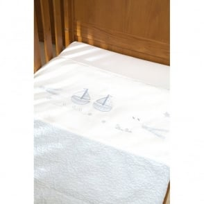 Silver Cross Vintage Blue Coverlet