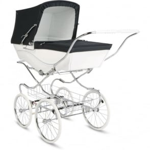 Silver Cross Heritage Kensington Pram Navy/White