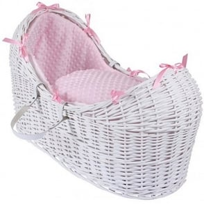 Clair De Lune Dimple Noah Pod White Wicker Basket