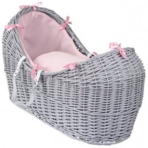 Clair De Lune Waffle Noah Pod Grey Wicker Basket
