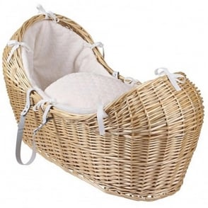 Clair De Lune Marshmallow Noah Pod Natural Wicker Basket