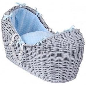 Clair De Lune Marshmallow Noah Pod Grey Wicker Basket