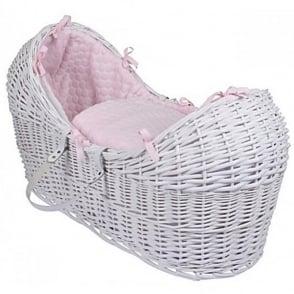 Clair De Lune Marshmallow Noah Pod White Wicker Basket
