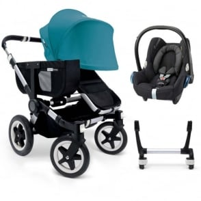 Bugaboo Donkey Mono Pushchair + Cabriofix Car Seat + Adpaters