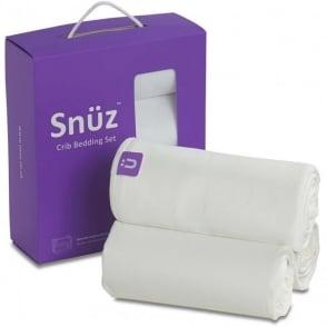 Snuz Crib Bedding Set - White