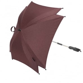 Silver Cross Wave Parasol Claret
