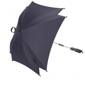 Silver Cross Wave Parasol Midnight Blue