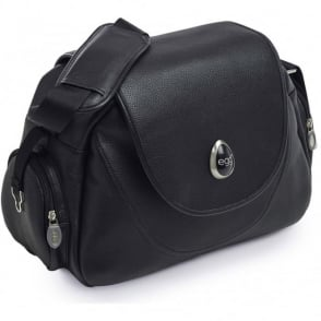 Egg Leather Black Changing Bag
