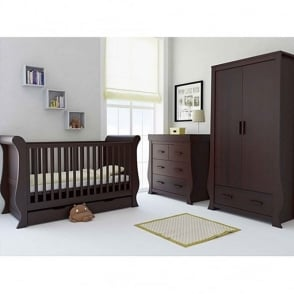 BabyStyle Hollie 3 Piece Nursery Set Rich Walnut
