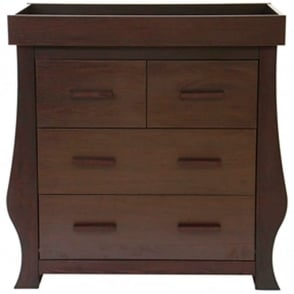 BabyStyle Hollie Dresser With Changer Unit Rich Walnut