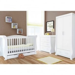 BabyStyle Hollie 3 Piece Nursery Set Fresh White