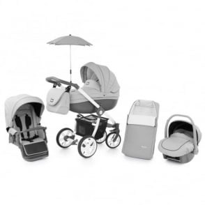Babystyle Prestige 2 Pram Dolphin - Active White Chassis