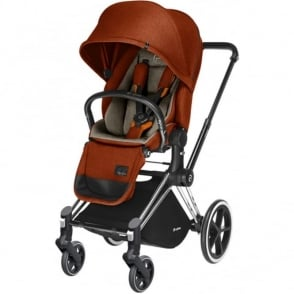 Cybex Priam Lux Seat 3 in 1 Pram Chrome Chassis